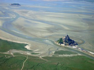 Mont St Michel from the air