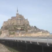 Mont St Michel and bridge
