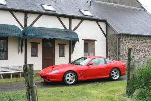 Ferrari outside B&B